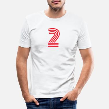Jersey Number Shirt number number two jersey number jersey 2 - Men's Slim Fit T-Shirt