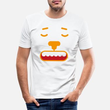 Language Face emotion facial expression feeling gift feeling angry - Men's Slim Fit T-Shirt