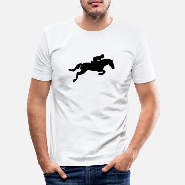 Ascot Horse Jump - Men's Slim Fit T-Shirt