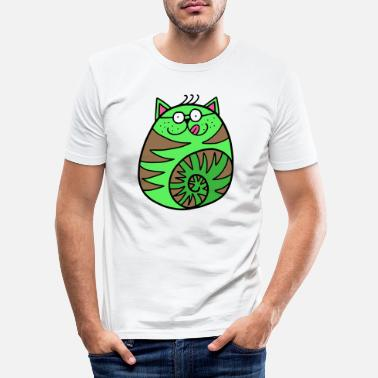 Critters Clever Cat - Men's Slim Fit T-Shirt