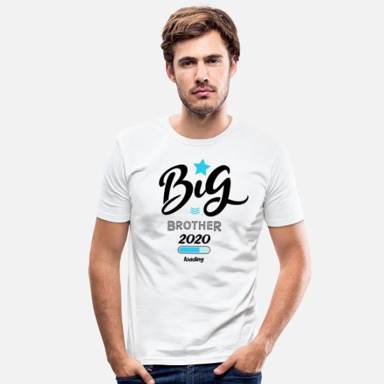 Big T-shirts - Big brother 2020 loading - T-shirt moulant Homme blanc