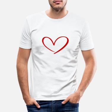 Relationship Hearts Against Hate 315 - Men's Slim Fit T-Shirt