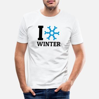 I Love Winter I love Winter - Mannen slim fit T-shirt