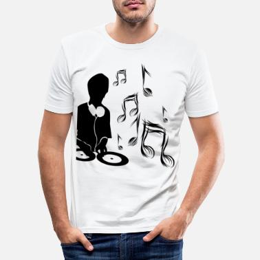 Design DJ Music Design Notes - Men's Slim Fit T-Shirt