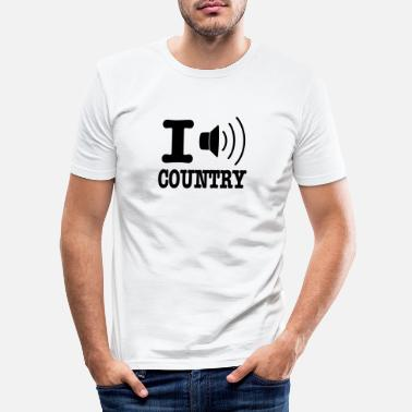 Country I music country / I love country - Slim fit T-shirt mænd