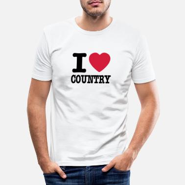 Country i love country / i heart country - Slim fit T-shirt mænd