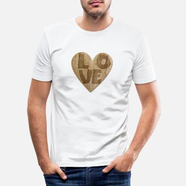 I Love Love - Love - Slim fit T-shirt mænd