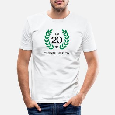 Zero 30 - 20 plus tax - Men's Slim Fit T-Shirt