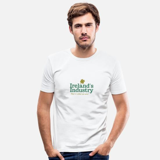 Ireland Shamrock T-Shirts - Ireland s Industry - Men's Slim Fit T-Shirt white