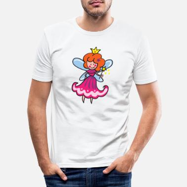 Fairy with magic wand - Men's Slim Fit T-Shirt