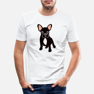 bouledogue.tricolore.png - T-shirt moulant Homme