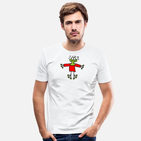 Frog Prince T-Shirts - Good-humored frog wants to hug you - Men's Slim Fit T-Shirt white