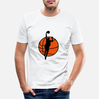 Basketball Basketball & Basketball Player - Mannen slim fit T-shirt