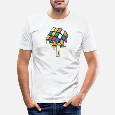 Cube Rubik's Cube Ice Lolly - Men's Slim Fit T-Shirt