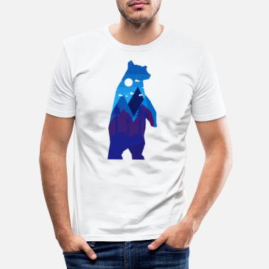 Abstract Bear Abstract - Men's Slim Fit T-Shirt