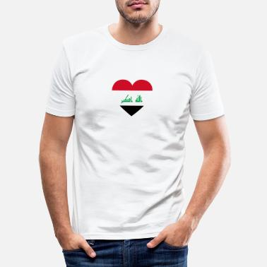 Irak Love love gift irak iraq - Men's Slim Fit T-Shirt