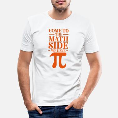 Pi Day Divertente Pi Day Vieni al Tea Math Side - Maglietta slim fit uomo