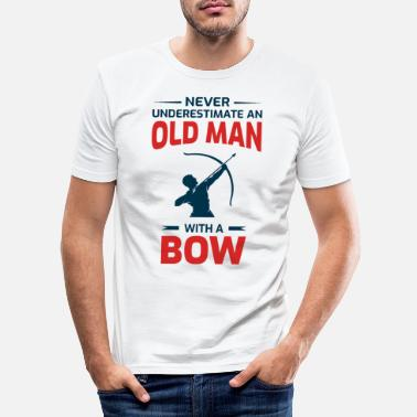 Long Tir à l'arc Funny Sayings Bow Arrow Archer Old Man - T-shirt moulant Homme