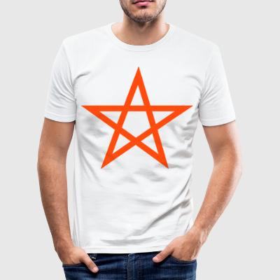 pentagram Wicca - Slim Fit T-skjorte for menn