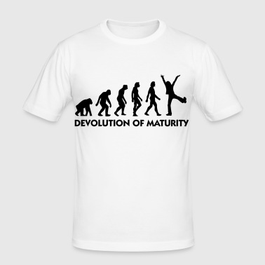 The Evolution of maturity - Men's Slim Fit T-Shirt