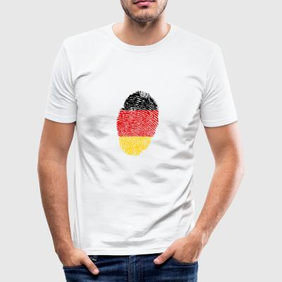 Imprint Germany Imprint with the flag Germany - Men's Slim Fit T-Shirt