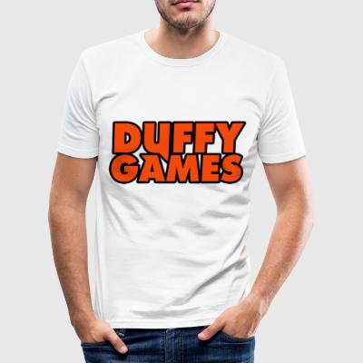 Duffygames orange. - Männer Slim Fit T-Shirt