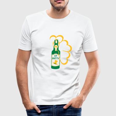 st patty bottle (2c) - slim fit T-shirt