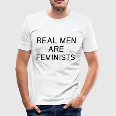 real_men_are_feminists - Tee shirt près du corps Homme