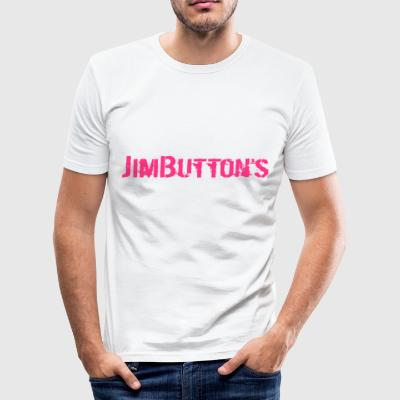 JimButton s girly pinky - Slim Fit T-shirt herr
