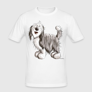 Knuffiger Bearded Collie - Männer Slim Fit T-Shirt