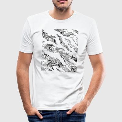 Cracks white - Men's Slim Fit T-Shirt
