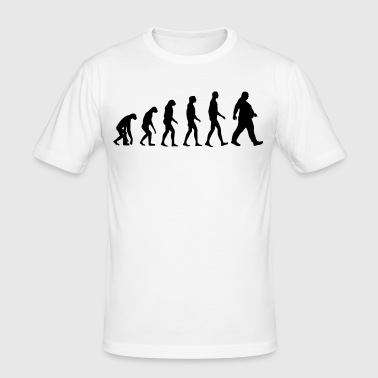 Bold evolution - of whom are obese - obese - Dick funny - Men's Slim Fit T-Shirt