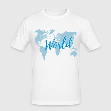 Travel the World 2c - T-shirt près du corps Homme