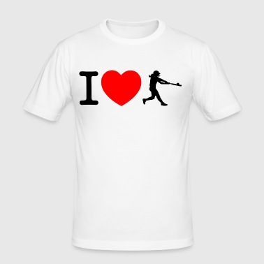 I love softball - Men's Slim Fit T-Shirt