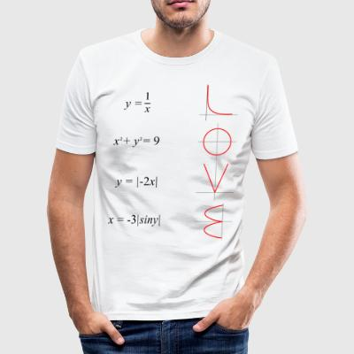 All you need is love math - Men's Slim Fit T-Shirt