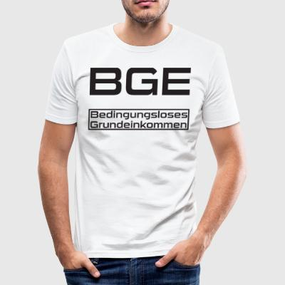 BGE basisinntekt - Slim Fit T-skjorte for menn