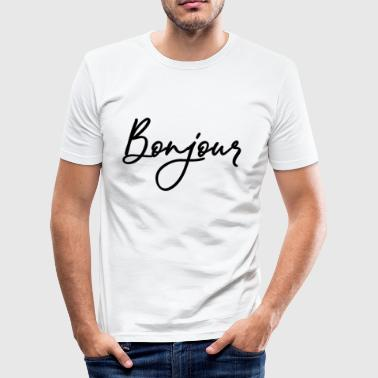 bonjour - Men's Slim Fit T-Shirt