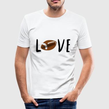 Rugby Football Love Teamsport Ball Sport Geschenk - Männer Slim Fit T-Shirt