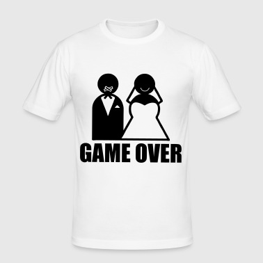 Game Over weeding mariage humour - T-shirt près du corps Homme