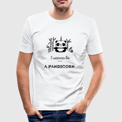 I wanna be a pandicorn - Men's Slim Fit T-Shirt