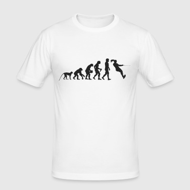 Evolutie waterskiën - slim fit T-shirt