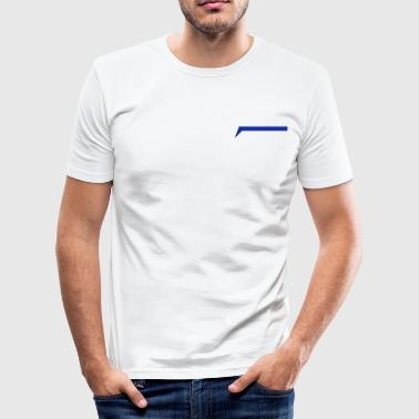 Efsix_blue - Männer Slim Fit T-Shirt