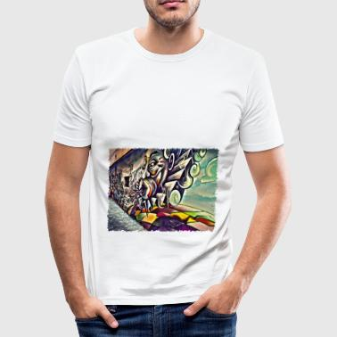 Street Art Gap - Männer Slim Fit T-Shirt