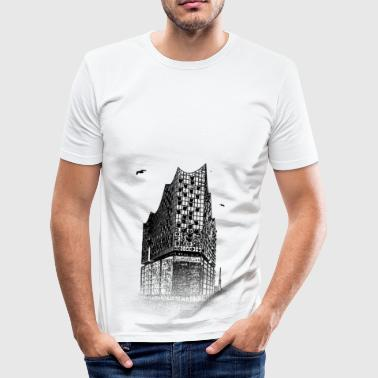 Around The World: Elbphilharmonie - Hamburg - Men's Slim Fit T-Shirt