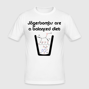 Jagerbombs are a Balanced Diet - Men's Slim Fit T-Shirt