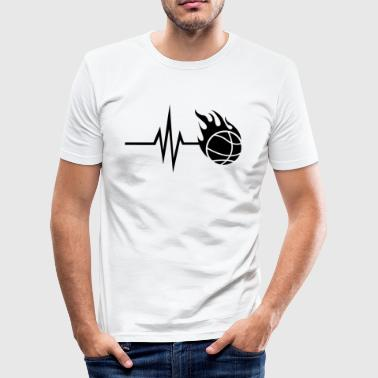My heart beats for basketball - sports fitness - Men's Slim Fit T-Shirt