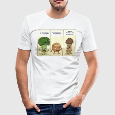 Joke between vegetables - Men's Slim Fit T-Shirt