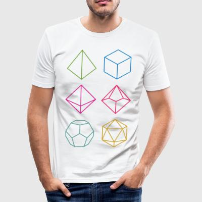 Minimal dnd (dungeons and dragons) dice - Men's Slim Fit T-Shirt
