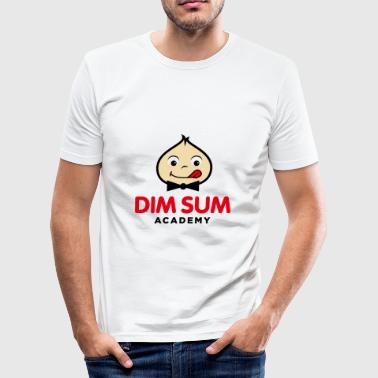 Dim Sum Academy Logo black - Men's Slim Fit T-Shirt