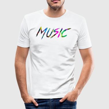 rainbow Music - Slim Fit T-skjorte for menn
